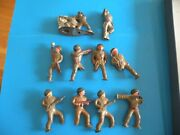 Lot Of 10 Podfoot Soldiers Soldier Barclay All Need Tlc Metal Toy Figure D26