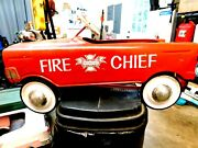 Murray Fire Chief Pedal Car 1950's.real Nice With Bellruns Greatnice One