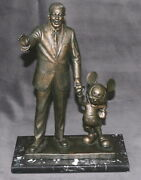 Walt Disney Collectibles Mickey Mouse As Conductor Maestro Bronze Statue Figure