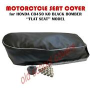 Motorcycle Seat Cover Fits Cb450k0 Cb450 Honda Black Bomber Flat Type Seat Cover