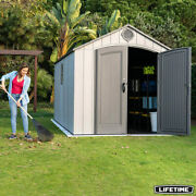 Lifetime 8ft X 15ft 2.4m X 4.6m Simulated Wood Look Storage Shed