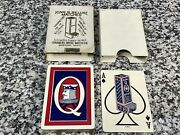 Excellent Antique King Q Deluxe Matches Advertising Playing Cards Deck W/ Box