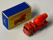 Very Hard To Find Lesney Matchbox 26b Foden Concrete Truck Spw Very Good Cond.