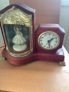 United Sessions Animated Ballerina Vintage Clock 1950andrsquos All Orig Nice
