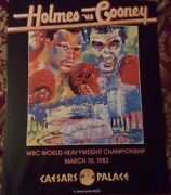 Larry Holmes Vs. Gerry Cooney Signed Leroy Neiman Fight Poster