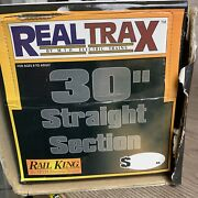 Mth 40-1019 Realtrax 30 Straight Track Sections 3 Rail 1 Case 20 Sections