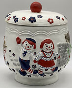 Vintage Raggedy Ann And Andy Cookie Jar Provincial Mold 1973