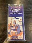 1976 Amtrak High Speed Rail National Train Timetables Schedule Nice