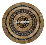 36and039and039 Marble Side Dining Table Top Mosaic Furniture Inlay Decorative Home Gift