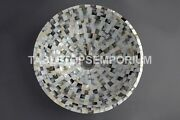 Black And White Marble Wash Basin Mother Of Pearl Antique Stunning Art Decor E305