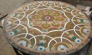 36and039and039 Inlay Round Side Mosaic Coffee Marble Top Table Hallway Furniture Gift E342