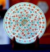 7 Marble Round Serving Plate Mosaic Precious Inlay Occasional Decor Gift H1949
