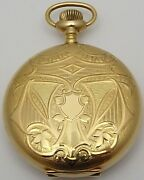 Antique 14ct Gold Full Hunter Fob Watch Lady Waltham Usa. In Good Working Order.