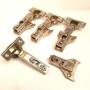 Lot Of 4 Grass 1006-30 Austria Cabinet Snap-on Hinges With Mounting Plates