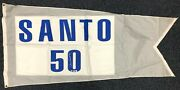 Rare Ron Santo Signed Game Used Actual Flag Flown At Wrigley Field Steiner Coa