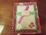 Lilly Pulitzer Catchall With 150 Note Sheets And Pen Featured In Garden By The Sea