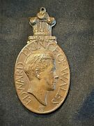 Edward Of Wales. Brass Medal -- Visit To Bombay India 1921.