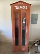 Original Vintage Phone Booth Metal Rotary Dial Pay Phone 1940and039s 1950and039s Old Nice