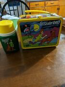 Very Rare With Thermos Vintage 1973 Hanna- Barbera Scooby Doo Metal Lunch Box