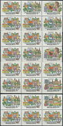 Hungary Booklet Panes Cities Of The Great Bend Of The Danube 1969 Mnh-6 Euro