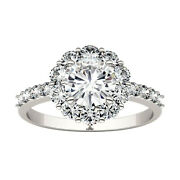 Moissanite By Charles And Colvard 6.5mm Round Fashion Ring 1.78cttw Dew