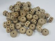 Lot Of 67 Vintage Wooden Tinker Toys Wood Wheels Replacement Parts Or Crafts