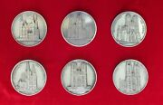 Rare Medal Cathedral Reims Abbey Burgos J. Weiner Silver Plated Original