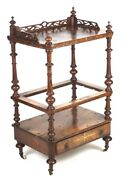 Antique Victorian Walnut Drink Serving Table Bar Cart - Free Shipping -pl 4326 R