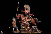 Polish Winged Hussar Chases Pikemen Painted Toy Soldier Pre-sale   Collectible