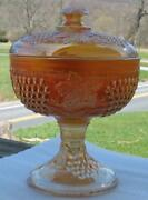 Northwood Grape And Cable Marigold Carnival Glass Covered Compote