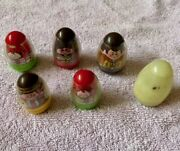 Weebles Lot Rare Witch Ghost Indian Cowboy 2 Red Hair Girls.