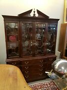 Stickley Furniture Mahogany China Cabinet Chippendale Style