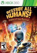 Destroy All Humans Path Of The Furon Microsoft Xbox 360 X360 Game