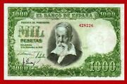Aunc 1000 Pesetas 1951 And039and039sorollaand039and039 Scarce No Serial. Spain