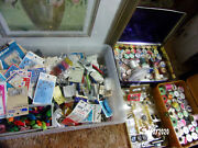 Vintage Huge Lot Of Sewing Notions Over 200 Pcs + Snap Pliers + Lots More