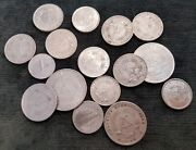 A Quantity Of Old Ddr German Alloy Coins 1940s To 1980s. Total = 6 Marks 41 Pf