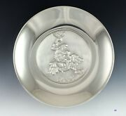 Lipchitz Sterling Silver And Bronze Israel 25th Anniversary Plate Plaque 11 3/4