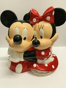 Mickey And Minnie Hugging Cookie Jar Disney Westland Giftware Mickey Inspearations