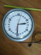 Vintage Gibralter Wall Clock Military Time Made In Usa Restored