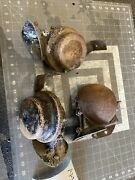 Original 1950's Car Truck Low Note Horn Assembly W/ Mounting Bracket Oem Aaa50