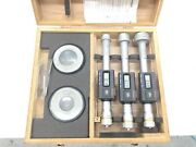 Mitutoyo 3-point Digimatic Bore Micrometer Set 25 - 50mm 1-2 Holtest Intrimik