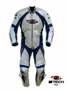 1pc 1-pc Motorcycle Racing Leather Suit M-tech Italy - Size Us 48 Eur 58