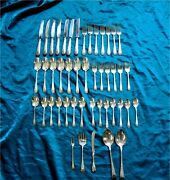London Engraved By Birks Sterling Silver Flatware For 47 Pc. 1577 Gr
