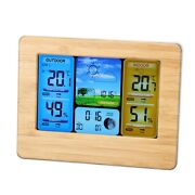 Lcd Digital Wireless Weather Station Clock Thermometer Indoorandoutdoor Home Use