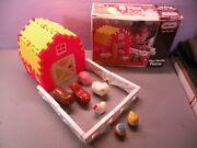 Vintage Little Tikes Wee Waffle Blocks Farm Barn Fence Near Complete With Box