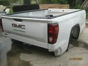2019-20 Gmc Sierra 8and039 Bed White With Chrome Step Bumper