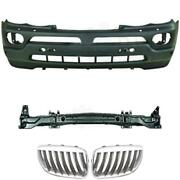 Set Kit Bumper Front + Carrier+ Grill For Bmw X5 E53 Year 03-07 Only 3.0/4.4
