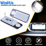 6000k Upgarde White Led License Plate Light Tag Lamp Fit Audi B7 A4 A3 A6 A8 Q7
