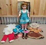 Vintage 20 Little Miss Fashion Doll W/ Box And Clothes Deluxe Reading Toys