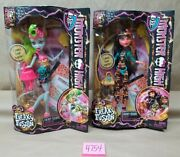 Lot Monster High Dolls 2013 Freaky Fusions Lagoonafire And Cleolei